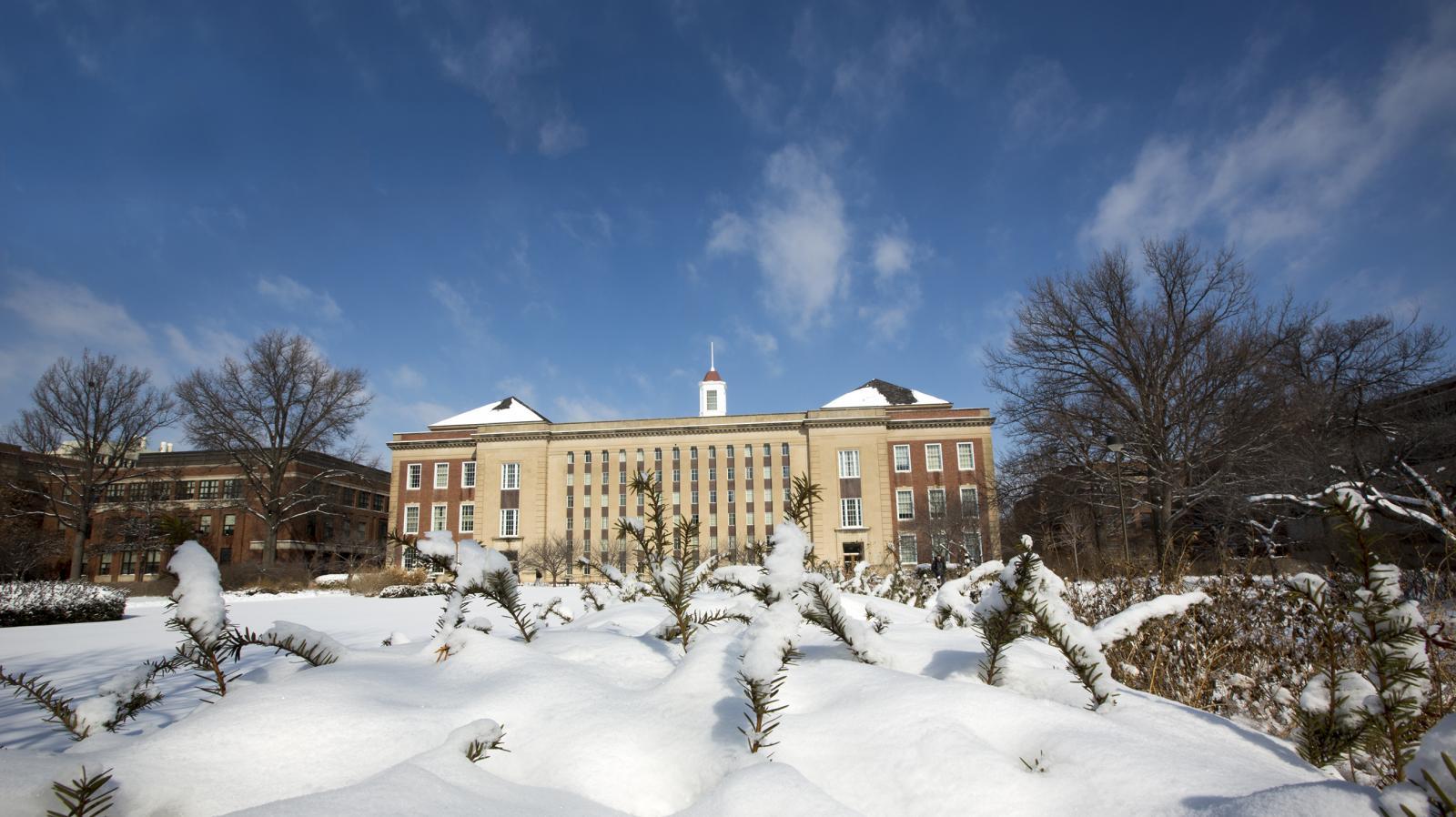 UNL Campus during the winter