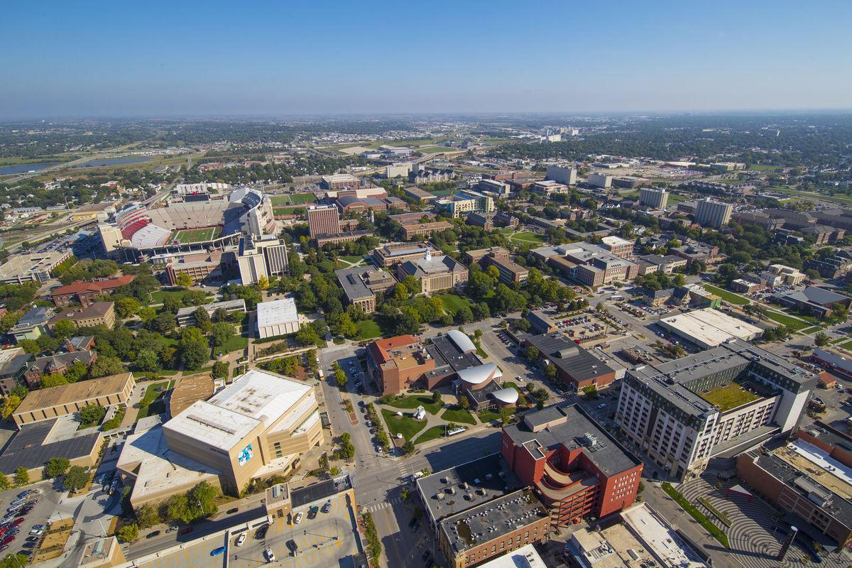 Aerial view of UNL city campus
