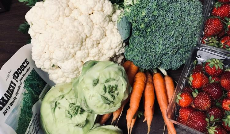 Vegetables and fruits from Pekarek's Produce